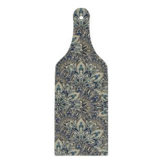 Grey and blue mandala pattern cutting board