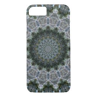 """Grey and Blue """"Rocky Point"""" Mandala Kaleidoscope iPhone 8/7 Case"""