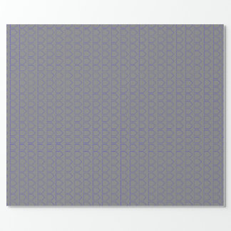 Grey and Blue Wrapping Paper