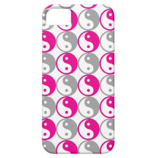 Grey and pink yin yang pattern iPhone 5 case