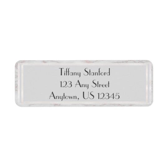 Grey and Rose Gold Marbled | Personalised Return Address Label