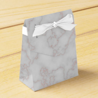 Grey and Rose Pink Marble Party Favour Box