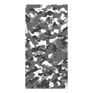 Grey and White camo Photo Card