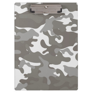 Grey and White Camouflage Clipboards
