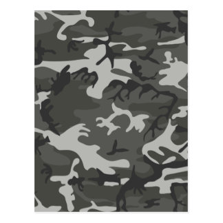 Grey and White Camouflage II Postcard