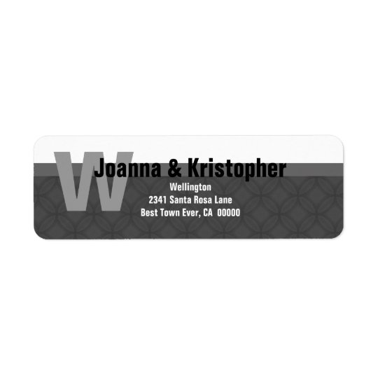 Grey and White Modern Custom Ver001 Address Label