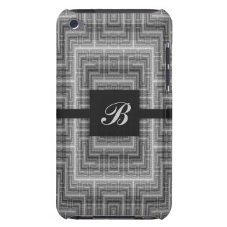 Grey and White Monogram Customizable Case-Mate iPod Touch Case