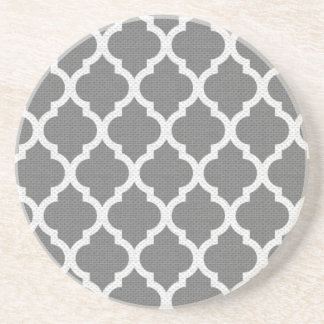 Grey and white pattern coaster