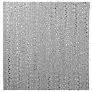 Grey and White Pattern Snowflake Flower print Napkin