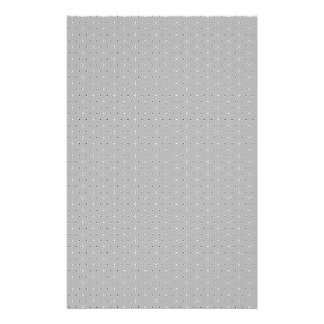 Grey and White Pattern Snowflake Flower print Stationery