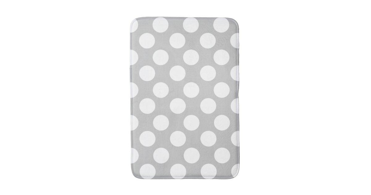Grey and White Polka Dot Foam Bath Mat Bath Mats Zazzle. Long Bathrooms Ideas