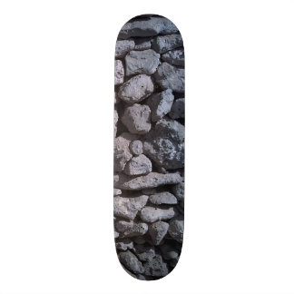 Grey and white rocks 20.6 cm skateboard deck