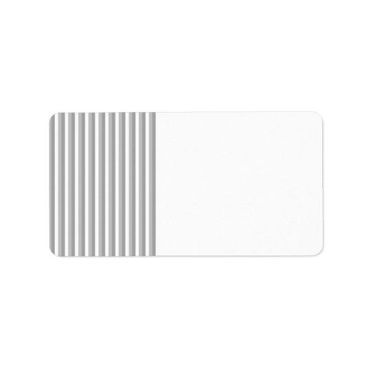 Grey and white stripes. Pattern. Address Label