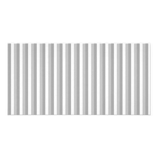 Grey and white stripes. Pattern. Photo Cards