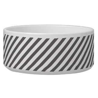 Grey and white stripes - Pet Bowl