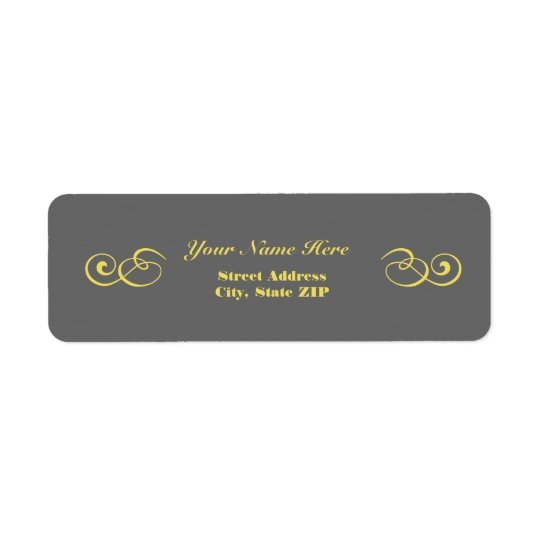 Grey and Yellow Address Labels
