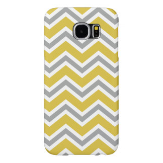 Grey and Yellow Chevron Samsung Galaxy S6 Case