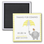 Grey and Yellow Elephant Baby Shower Favours Refrigerator Magnet