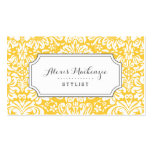Grey and Yellow Floral Damask