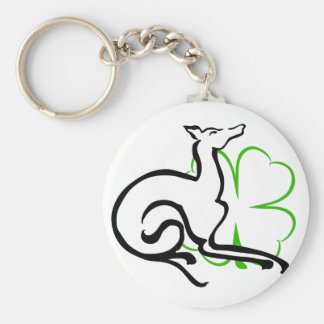 Grey Area Clover Basic Round Button Key Ring