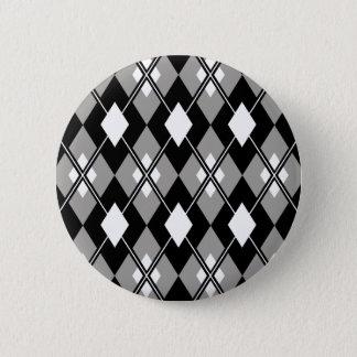 Grey Argyle Preppy Button