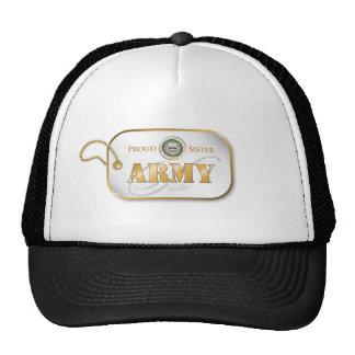 Grey Army Sister Dog Tag Trucker Hats