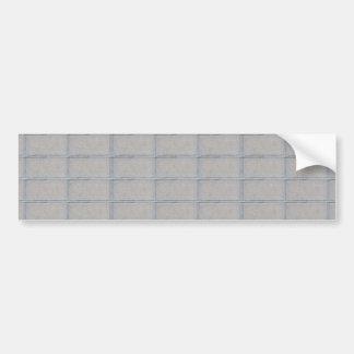 Grey Artistic Decorative BRICK Wall Bumper Sticker