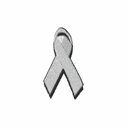 grey awareness ribbon