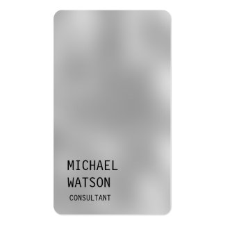 Grey Background Simple Plain Trendy Consultant Pack Of Standard Business Cards