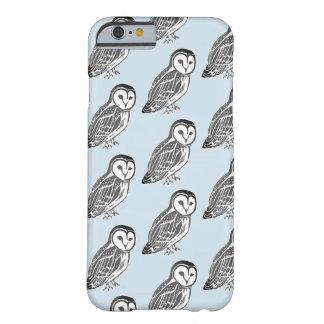 Grey Barn Owls Pattern iPhone 6/6s Case