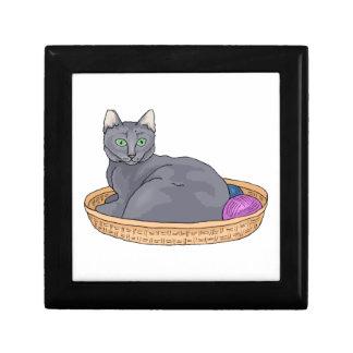 Grey Basket Cat Gift Box