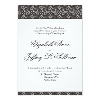 Grey Berry Cluster Wedding Invitation