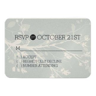 Grey Bird Branches RSVP Card