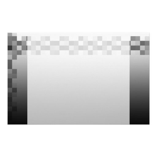 Grey, Black and White Squares Pattern. Stationery Design