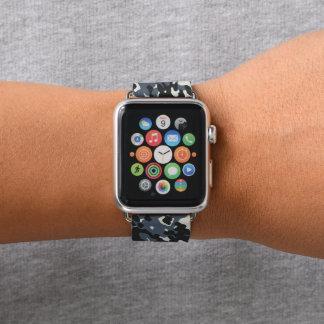 Grey Black Camouflage Camo Apple Watch Band
