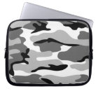 Grey & Black Camouflage Laptop Sleeve