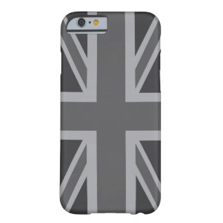 Grey Black Classic Union Jack British(UK) Flag Barely There iPhone 6 Case