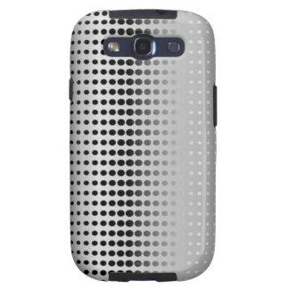 Grey & Black Dot Pattern - Samsung Galaxy Case Samsung Galaxy SIII Case