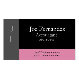 Grey Black & Dusty Pink Professional Business Card