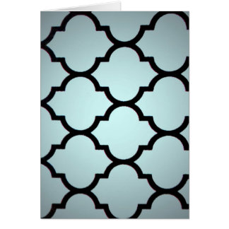grey black Moroccan Lattice Repeatable Pattern Cards