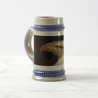 grey/blue 22 oz stein