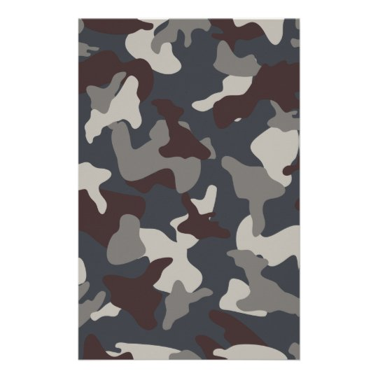 Grey Blue army camo camouflage pattern Stationery
