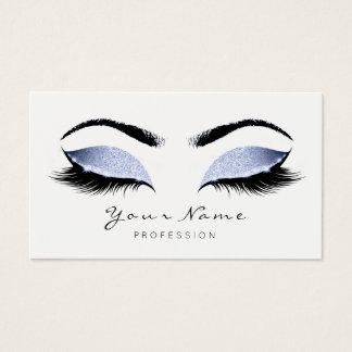 Grey Blue Makeup Artist Lashes Beauty Studio Business Card
