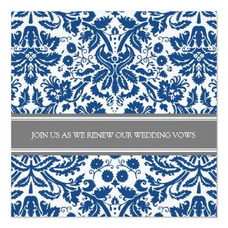 Grey Blue Wedding Vow Renewal Invitation