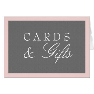 Grey & Blush Pink Cards & Gifts Wedding