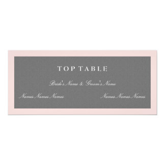 Grey & Blush Pink Top Table Plan Card