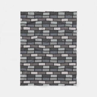Grey brick wall fleece blanket