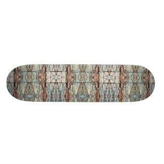 Grey Bricks Abstract Art Symmetrical Design Skateboard Deck