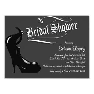 Grey Bridal Shower Invitations