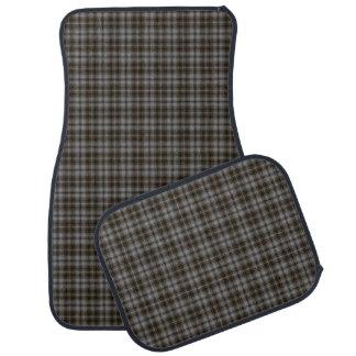 Grey Brown Black Small Tartan Plaid Car Mat